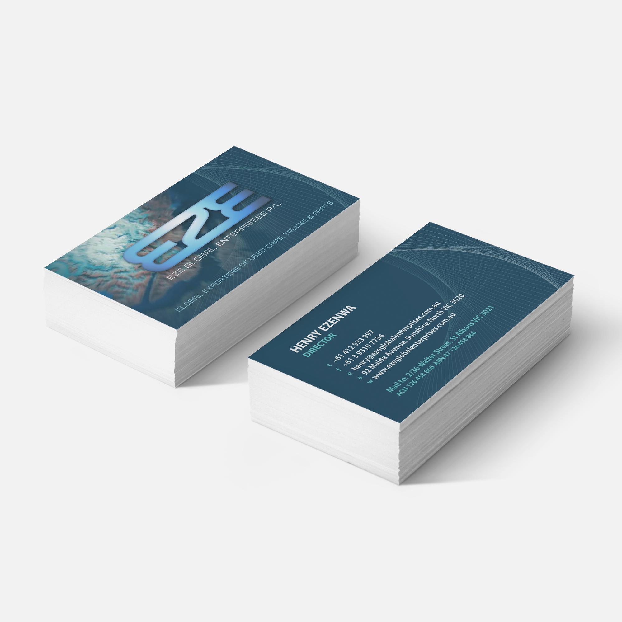 business card design for automotive company