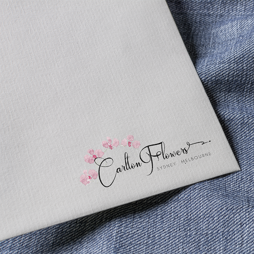 custom logo design whimsical pretty