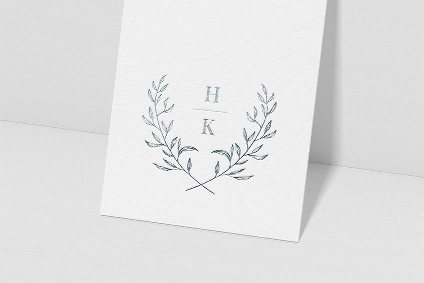 custom wedding stationary logo design