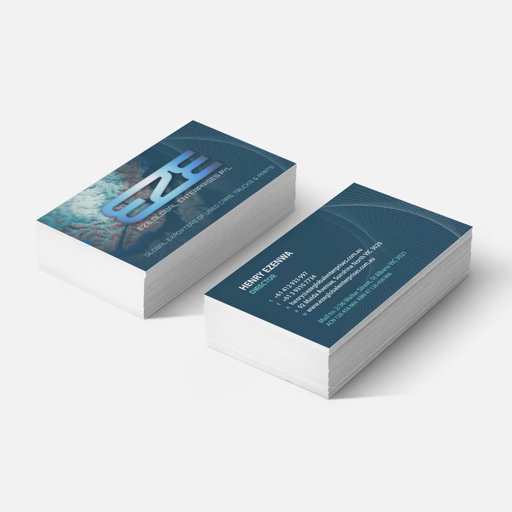 business card design for automotive company