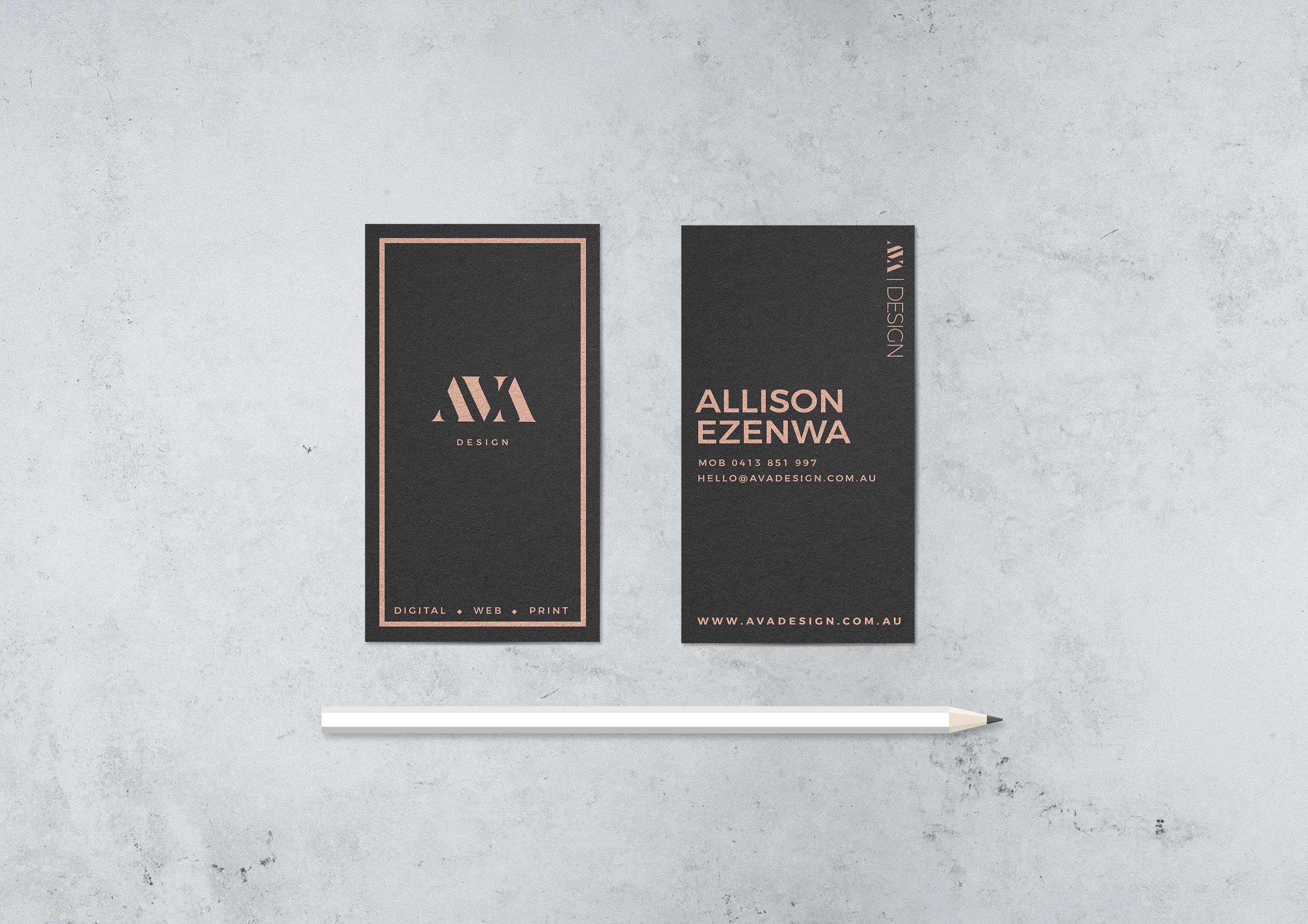AVA Design Business cards