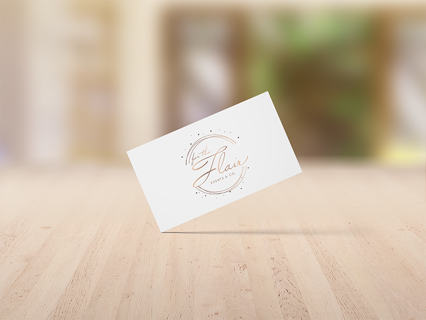 business card design for evvnts hire business
