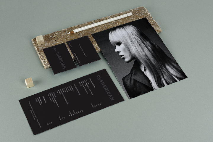 small business branding stationary for stylish hair salon