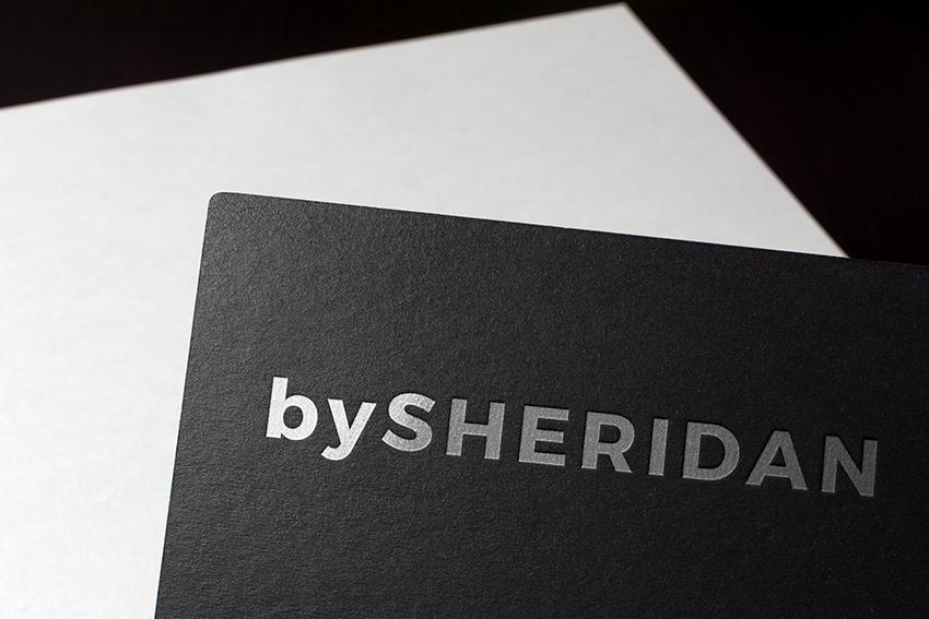 stylish foil embossed logo design